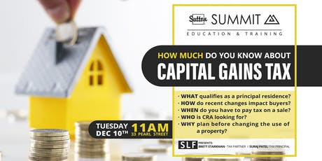How much do you know about Capital Gains Tax? tickets