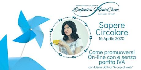 Come promuoversi on-line con Elena Galli di A cup of web tickets