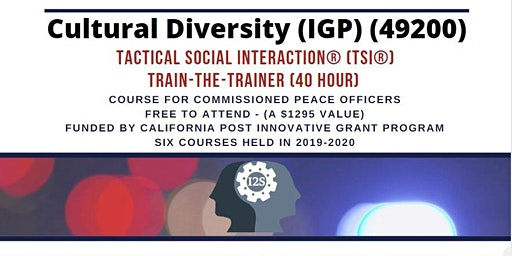 Tactical Social Interaction® Training-the-Trainer (Course 6 of 6)