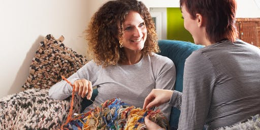 Beginner Knitting - Waffle Scarf