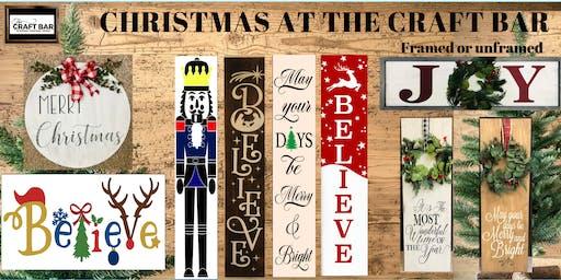 Christmas at The CRAFT BAR!