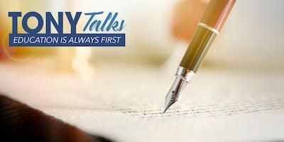 TONY Talks - ESTATE PLANNING