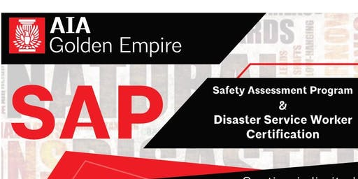 Safety Assessment Program (SAP) & Disaster Service Worker Certification