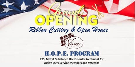 H.O.P.E. Military/Veteran PTSD & Substance Abuse Program Ribbon Cutting   tickets