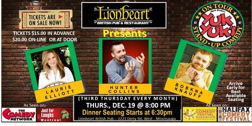 YUK YUK'S COMEDY TOUR AT LIONHEART