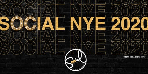 New Years Eve Party @ SOCIAL Costa Mesa