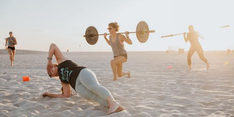 NOBULL Ugly Christmas Sweater Beach Workout tickets