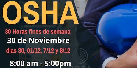 OSHA 30 horas para trabajadores de la construcción. tickets