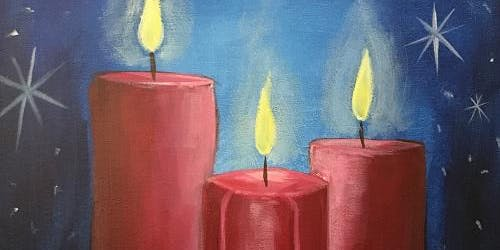 Come out to the BEST Painting, Pints and Pizza! - 'Christmas Candles'