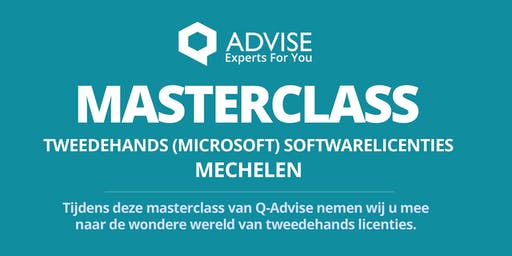 "Masterclass  "" Tweedehands Softwarelicenties"""