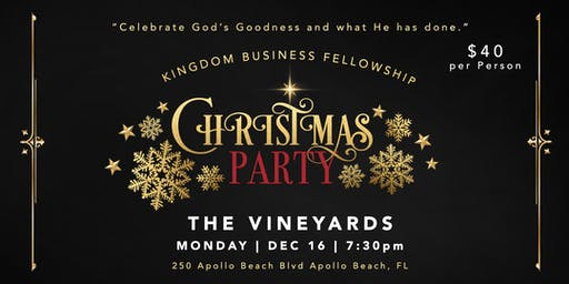 Kingdom Business Fellowship Christmas Party 2019