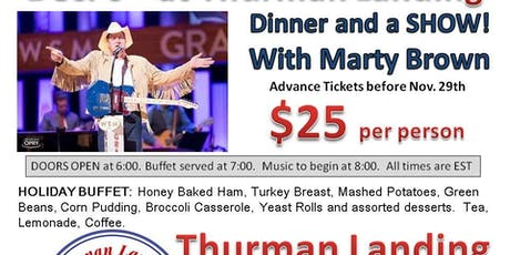 Marty Brown - Dinner and a Show! tickets