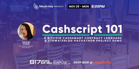 Bitcoin Bay Blockchain Event -Cashscript tickets