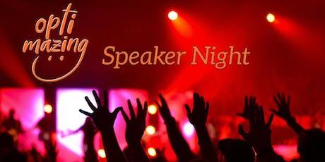 Optimazing Speaker Night 27.01.2020 Tickets