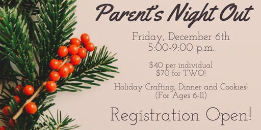 Parent's Night Out with Peace of HeART Expressions