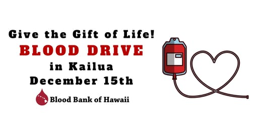 Blood Bank of Hawaii Blood Drive