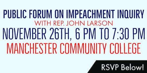 Public Forum on Impeachment Inquiry with Rep. John Larson