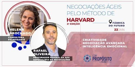 NEGOCIAÇÕES ÁGEIS PELO MÉTODO DE HARVARD - 2ª edição ingressos