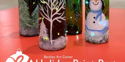 Holiday Paint Party | Painted Glass Bottle