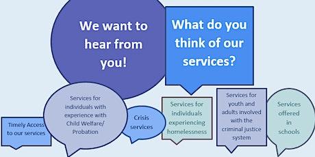 Behavioral Health Services Community Conversation tickets