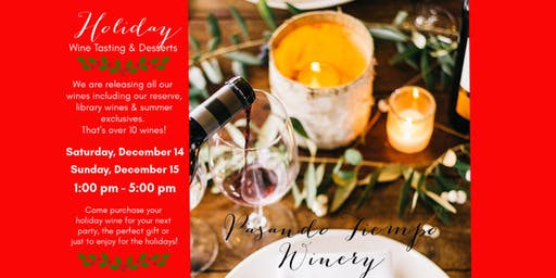 Holiday Wine Tasting & Desserts