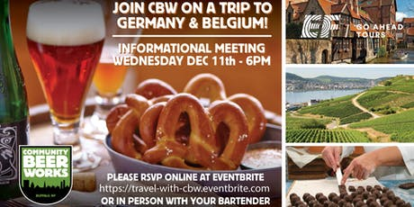 Join CBW in Belgium & Germany  - Info Session tickets