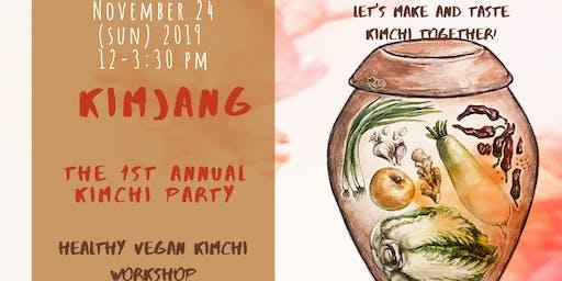 Kimjang - The 1st Annual  Vegan Kimchi Party