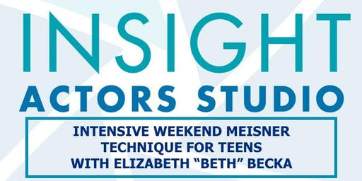 WEEKEND INTENSIVE MEISNER TECHNIQUE FOR TEENS - ATLANTA