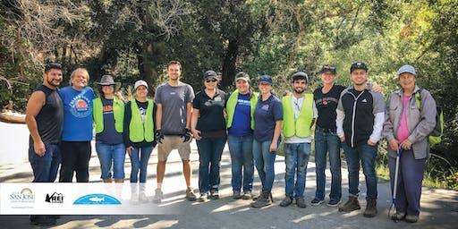#OptOutside Creek Cleanup in San José