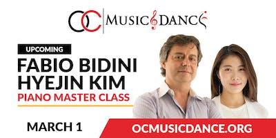 Fabio Bidini Piano Master Class - March 1st