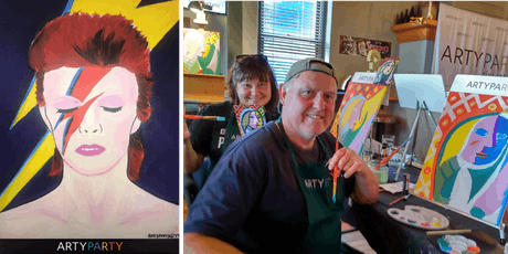 ARTYPARTY - Give Art a Go in Petone! Paint David Bowie as Ziggy Stardust - 1st drink free! tickets