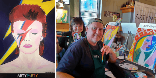ARTYPARTY - Give Art a Go in Petone! Paint David Bowie as Ziggy Stardust - 1st drink free!