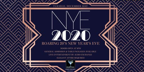 Blue Martini Orlando Roaring 20's New Year's Eve 2020 tickets