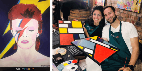 ARTYPARTY - Give Art a Go! Paint David Bowie as Ziggy Stardust - 1st drink free! tickets