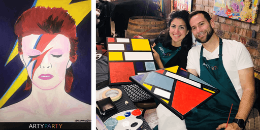 ARTYPARTY - Give Art a Go! Paint David Bowie as Ziggy Stardust - 1st drink free!