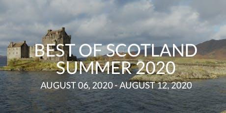 Scotland Trip 2020 tickets