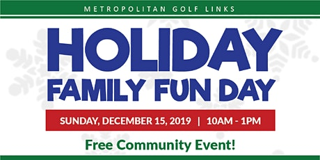 Free Holiday Family Fun Day for Families including Pictures with Santa! tickets