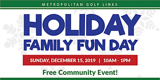 Free Holiday Family Fun Day for Families including Pictures with Santa!
