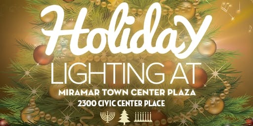 Holiday Lighting at Miramar Town Center Plaza!
