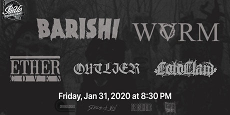 Barishi, Ether Coven, Outlier and ColdClaw  at The X Bar tickets