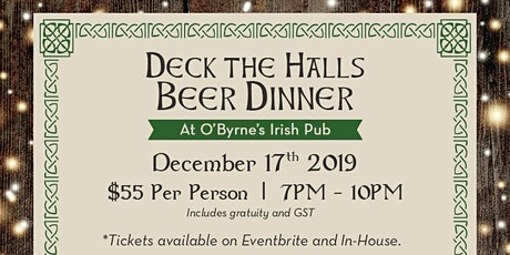 Deck The Halls Beer Dinner at O'Byrne's Irish Pub tickets