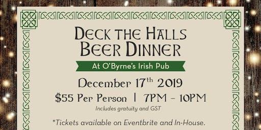 Deck The Halls Beer Dinner at O'Byrne's Irish Pub