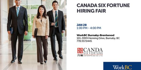 Canada Six Fortune - Hiring Fair tickets