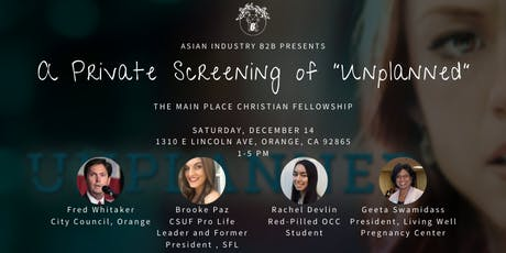 """AIB2B Presents a Private Screening of """"Unplanned"""" tickets"""