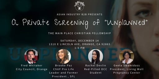 """AIB2B Presents a Private Screening of """"Unplanned"""""""