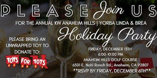 KW Anaheim Hills Yorba Linda & Brea Holiday Party