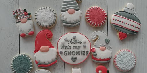 Gnome for holidays cookie decorating