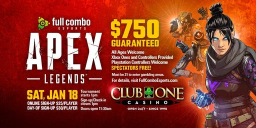Apex Legends Jan 18th Tickets Sat Jan 18 2020 At 100