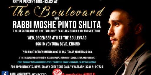 Rabbi Moshe Pinto at The Boulevard