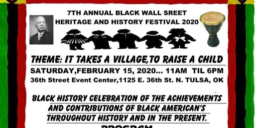7th Annual Black Wall Street Heritage and History Festival 2020